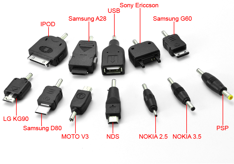 Old Mobile Phone Connectors