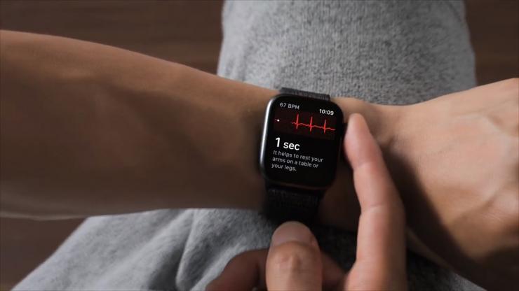 ECG on the Apple Watch Series 4 (Source: Apple)