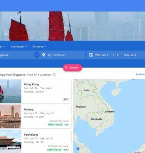 Google Flights Website
