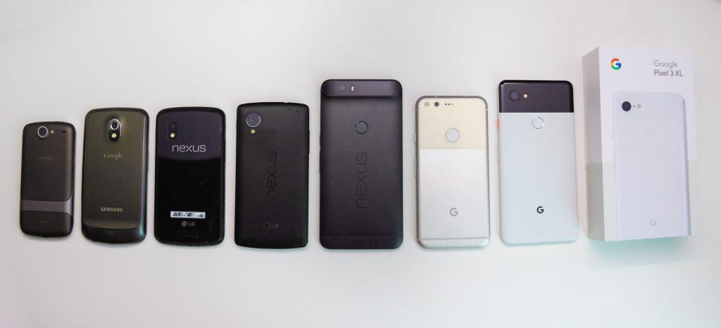 Google phones since Nexus One