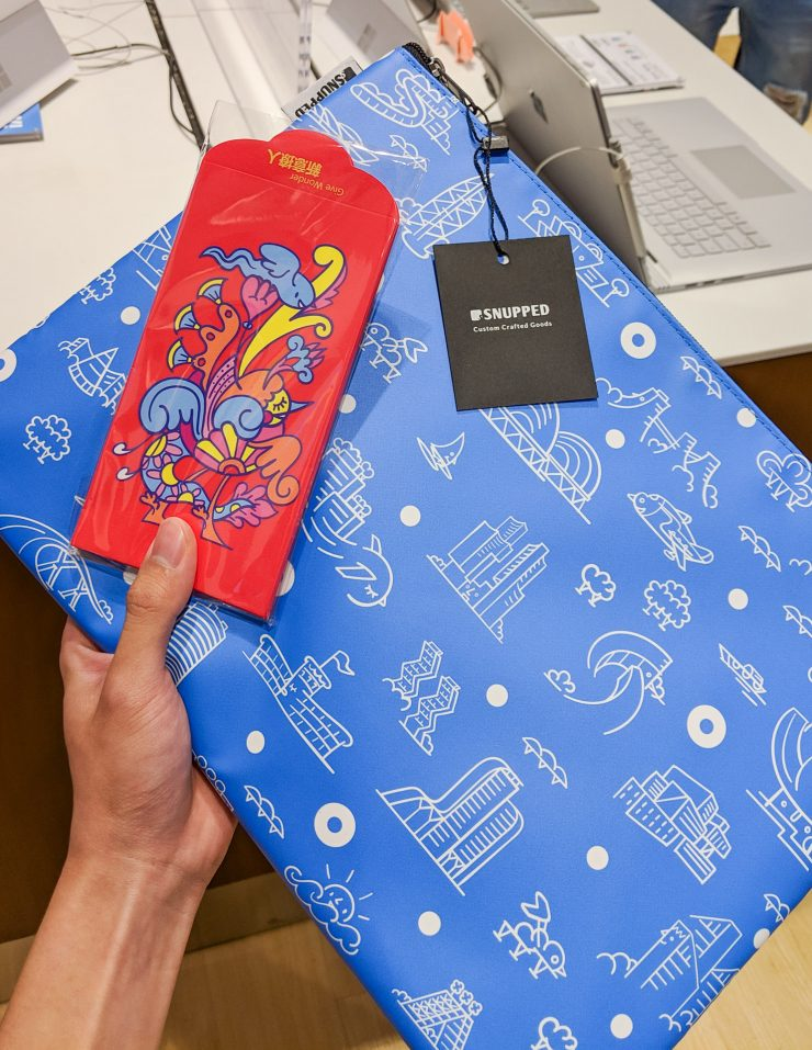 Laptop Pouch and Ang Bao designed by Michael Mindflyer on Surface