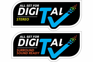 Digital TV Compliant Sticker
