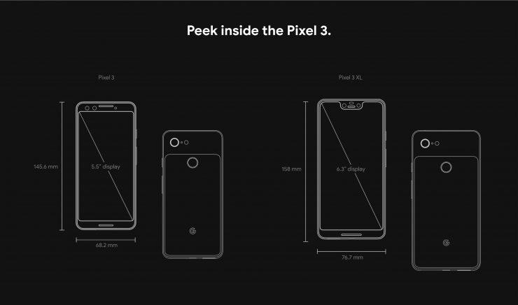 Pixel 3 Dimensions