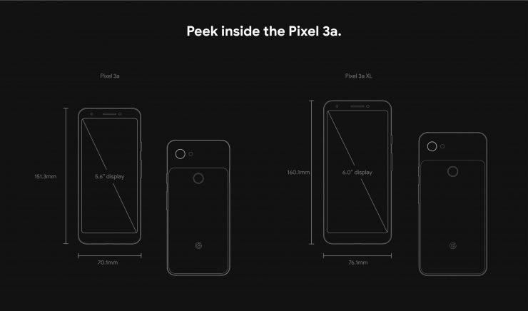 Pixel 3a Dimensions