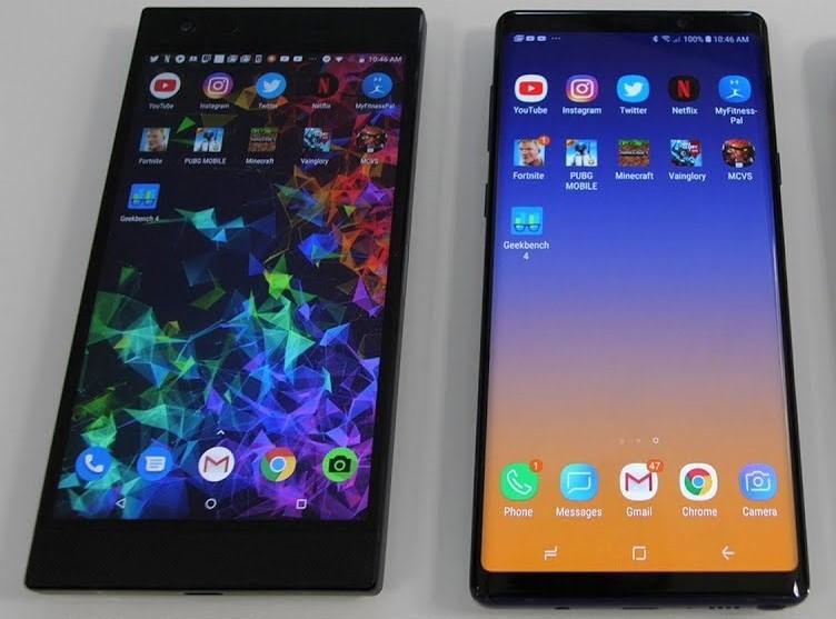 Razer Phone 2 with Galaxy Note 9