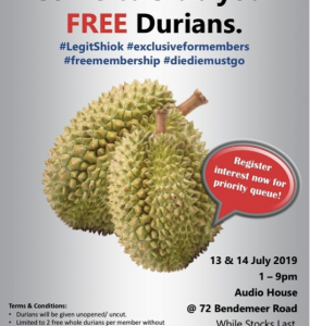 Audio House Member Free Durians 2019