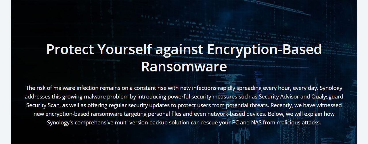 Synology warning users of ransomware attacks