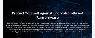 Synology warning users of ransomware attacks