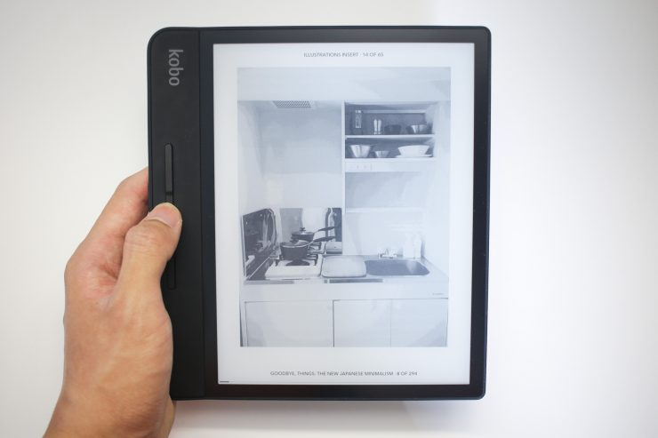 Viewing images on the Kobo Forma