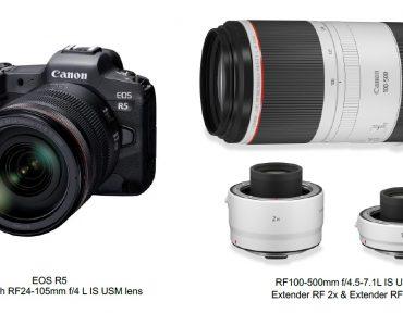 Canon announces development EOS R5 and new RF Series Lenses
