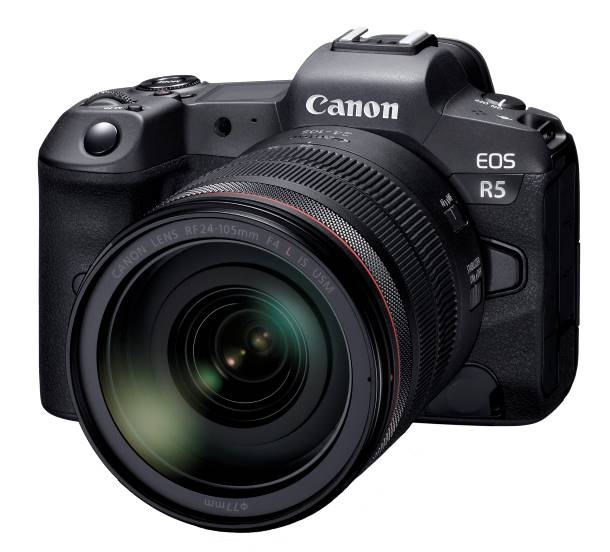 EOS R5 Shown with RF24-105mm f4L IS USM Lens
