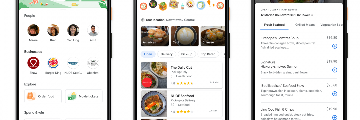 Google Pay Menu Discovery feature