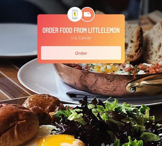 Instagram Order Food