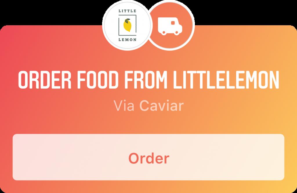 """Instagram """"Order Food"""" Sticker"""