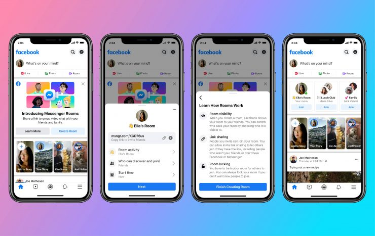 Messenger Rooms - News Feed