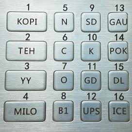 KopiMatic Keypad