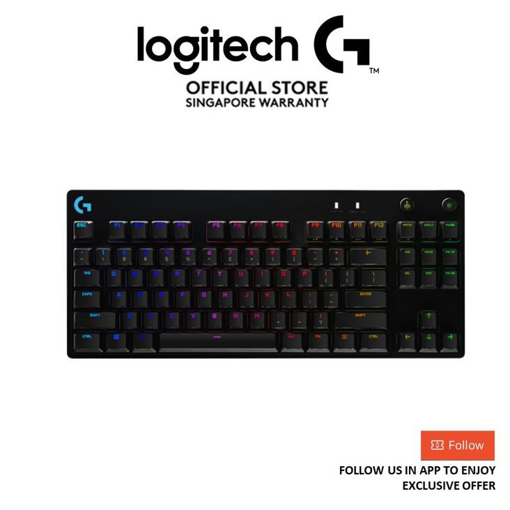 Logitech G PRO X TKL Mechanical Lightsync RGB Gaming Keyboard