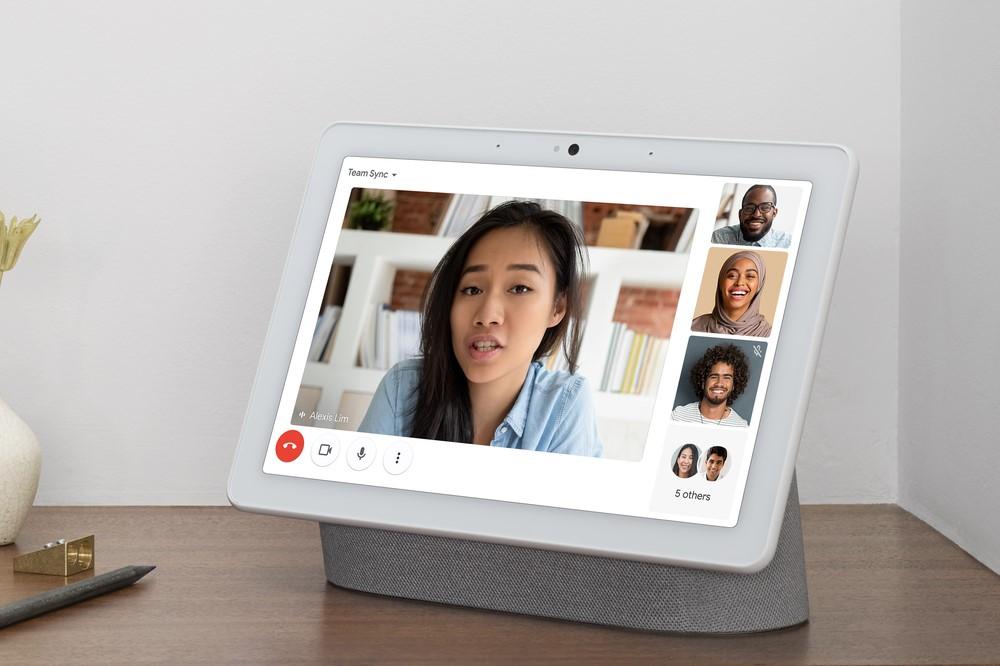 Google Meet on Nest Hub Max