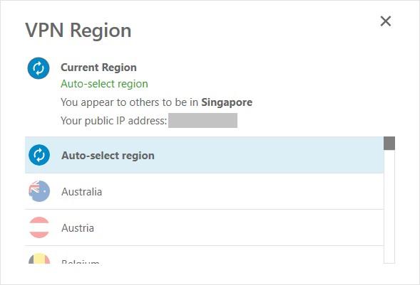 VPN Region