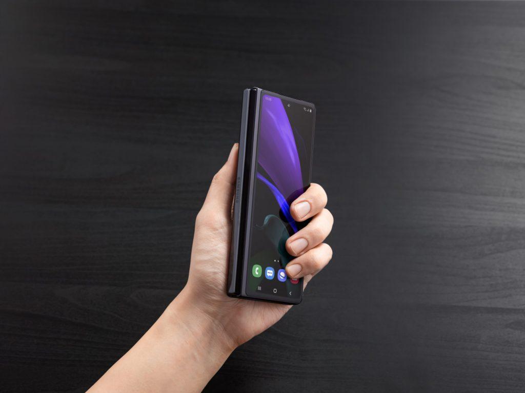 Samsung Galaxy Z Fold2 on hand