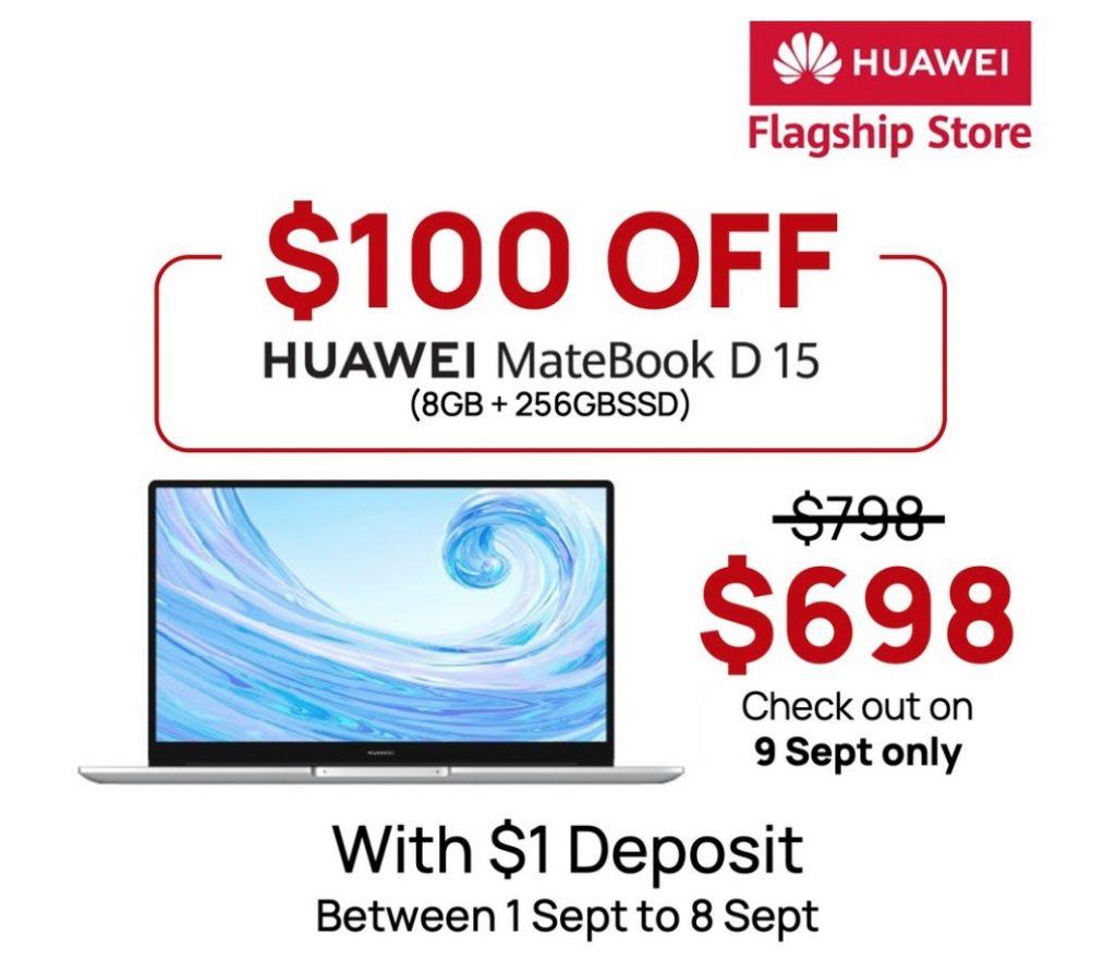Shopee 9.9: Huawei MateBook D 15