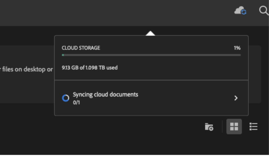 Adobe Cloud Storage Document Version History
