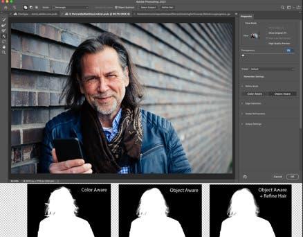 Adobe Photoshop Intelligent Refine Edge