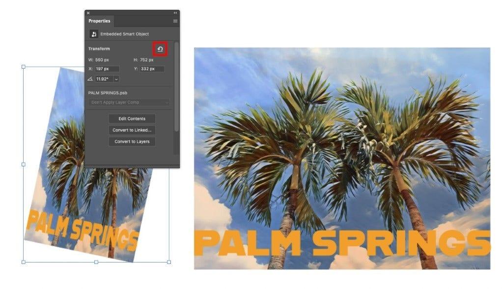 Adobe Photoshop Reset Smart Objects