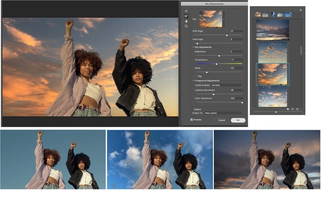 Adobe Photoshop Sky Replacement