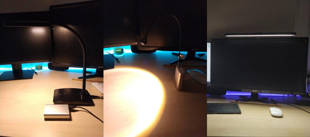Ordinary USB Lamps vs BenQ Screenbar