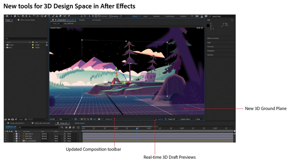 Adobe After Effects new 3D tools