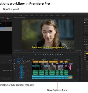 Adobe Premiere Pro New Captions Workflow