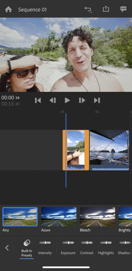 Adobe Premiere Rush March Color Filters