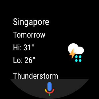Google Assistant on Fossil Gen 5E (Weather)