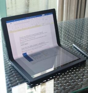 ThinkPad X1 Fold (Half-folded)
