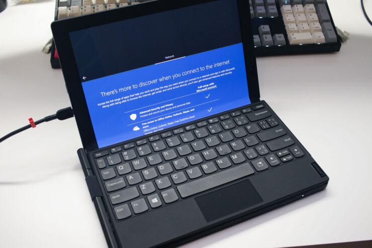 ThinkPad X1 Fold Windows Setup with Keyboard
