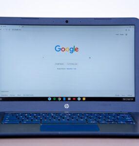 HP Chromebook On Desk
