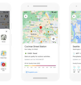 Google Maps with new Weather & Air Quality Layers