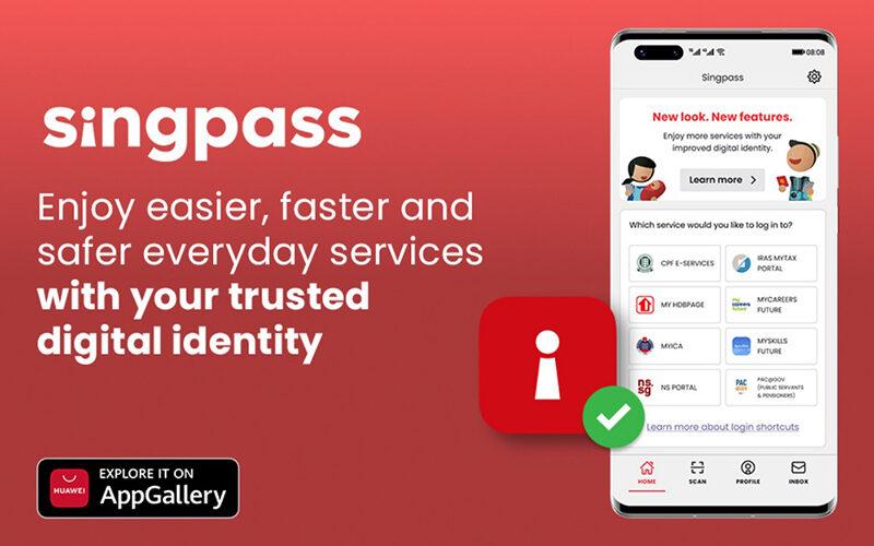 Singpass on Huawei App Gallery