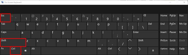 Task Manager Keyboard Shortcut