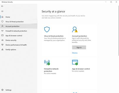 Windows Security Dashboard