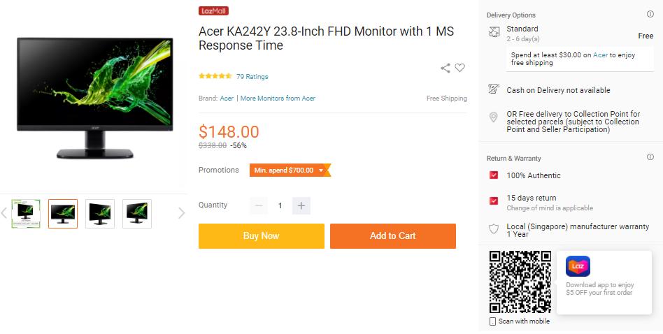Acer KA242Y Monitor