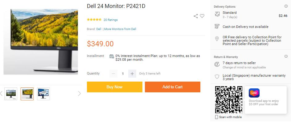 Dell P2421D Monitor