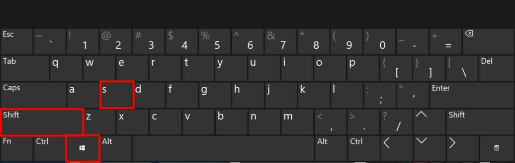 Windows screenshot shortcut (Win + Shift + S)