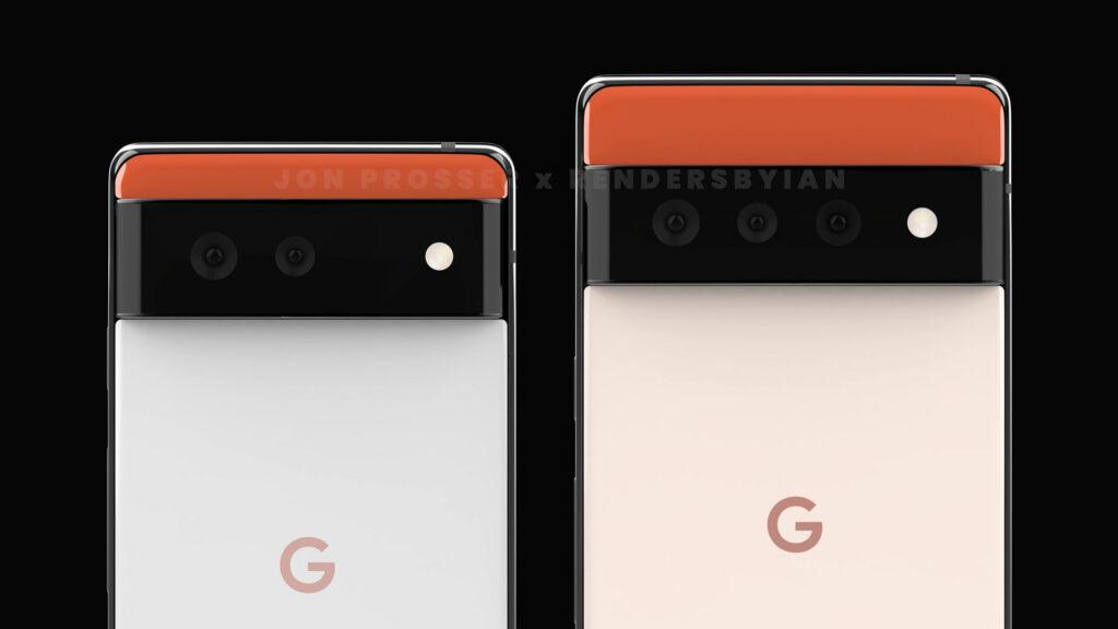 Google Pixel 6 and 6 Pro render by Jon Prosser x RendersByIan