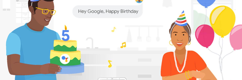 Google Assistant 5th Birthday